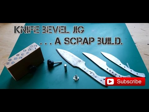 Knife Making... A bevel jig from scrap