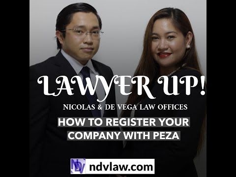 HOW TO REGISTER YOUR COMPANY WITH PEZA