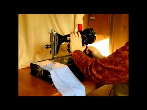 Sterling Vintage Japanese Class 15 Sewing Machine Demo Video