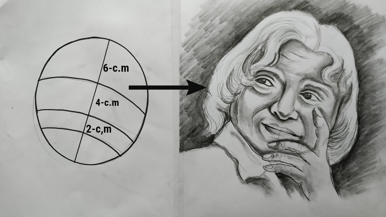 how to draw apj abdul kalam with pencil sketch step by ...