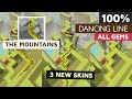 Dancing Line The Mountains 100% All Gems 3 New Skins Completed All Crowns