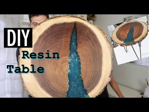 DIY WOODEN RESIN TABLE *SUPER INEXPENSIVE*
