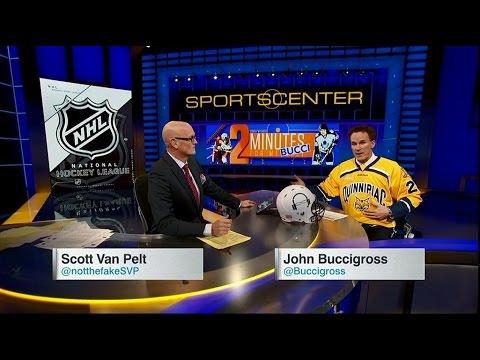 John Buccigross Wears QU Hockey Jersey on Scott Van Pelt Show