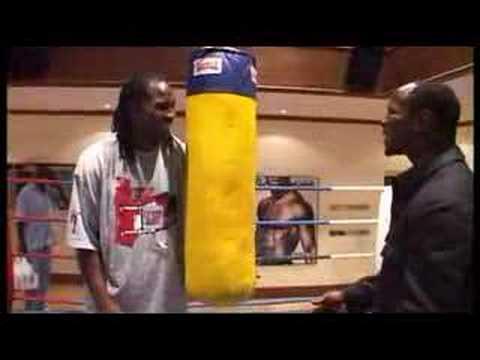 Lennox Lewis gives CHRIS EUBANK a boxing LESSON