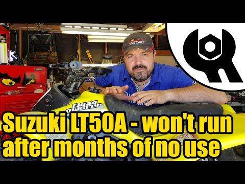 Suzuki LT50A quad won't start after no use #1823