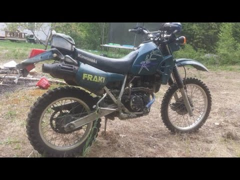 1997 KLR250 Demonstration - Off-road and On - YouTube