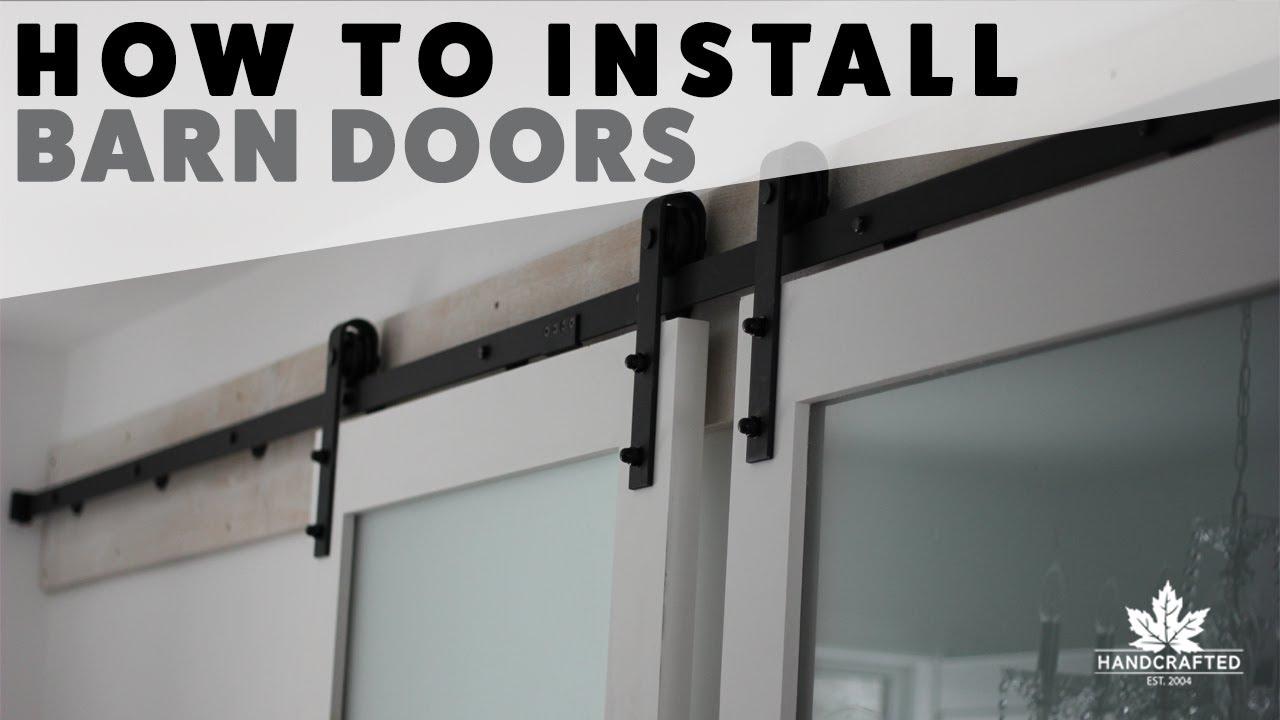 How To Install Barn Doors   YouTube