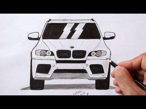 Как нарисовать Машину BMW X 5