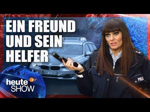 Ein Polizei zu sein, ist Larissas absoluter Traumjob (Martina Hill) | heute-show vom 17.11.2017