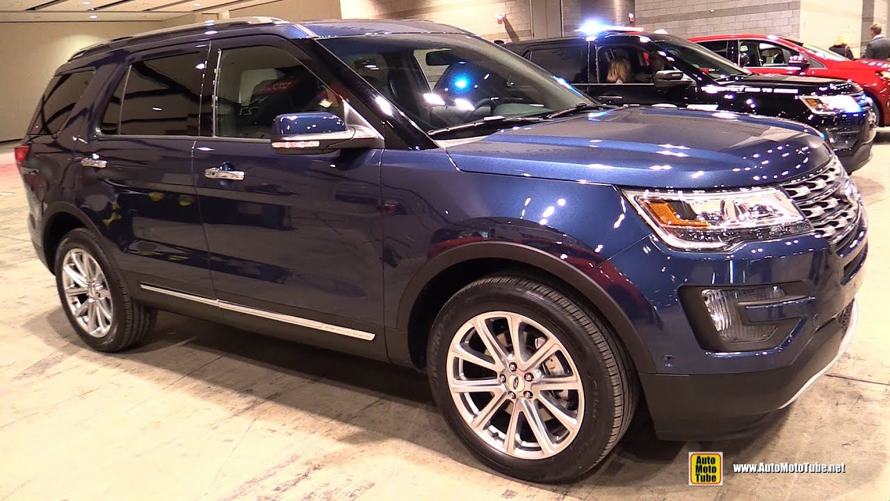 2016 ford explorer limited exterior and interior walkaround 2015 chicago auto show youtube - 2015 Ford Explorer Xlt Interior