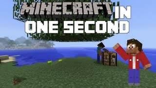 Minecraft: Minecraft in 1 Second Thumbnail