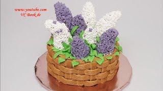 Selbstgemachte Torte / Korb mit Flieder - 3D Torte / Motivtorte / Basket with lilac Cake