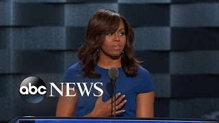 Michelle Obama Gives Rousing DNC Speech
