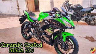 Ninja 650 Ceramic Coating Done   Stucked in Traffic 😱   VAMP will be back soon after Maintainance