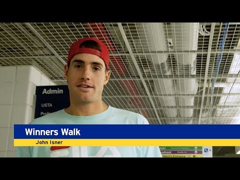 Winner's Walk, Presented By Emirates: John Isner, Round 4