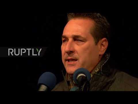 Austria: FPO candidate Strache rallies in Vienna ahead of legislative elections