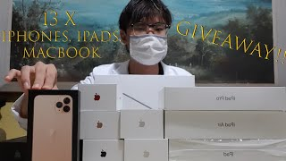 13 × iPhones, iPads, MacBook GIVEAWAY!!! | 90K Subs Special! | $25K Total! (Not Fake!) (Worldwide!)
