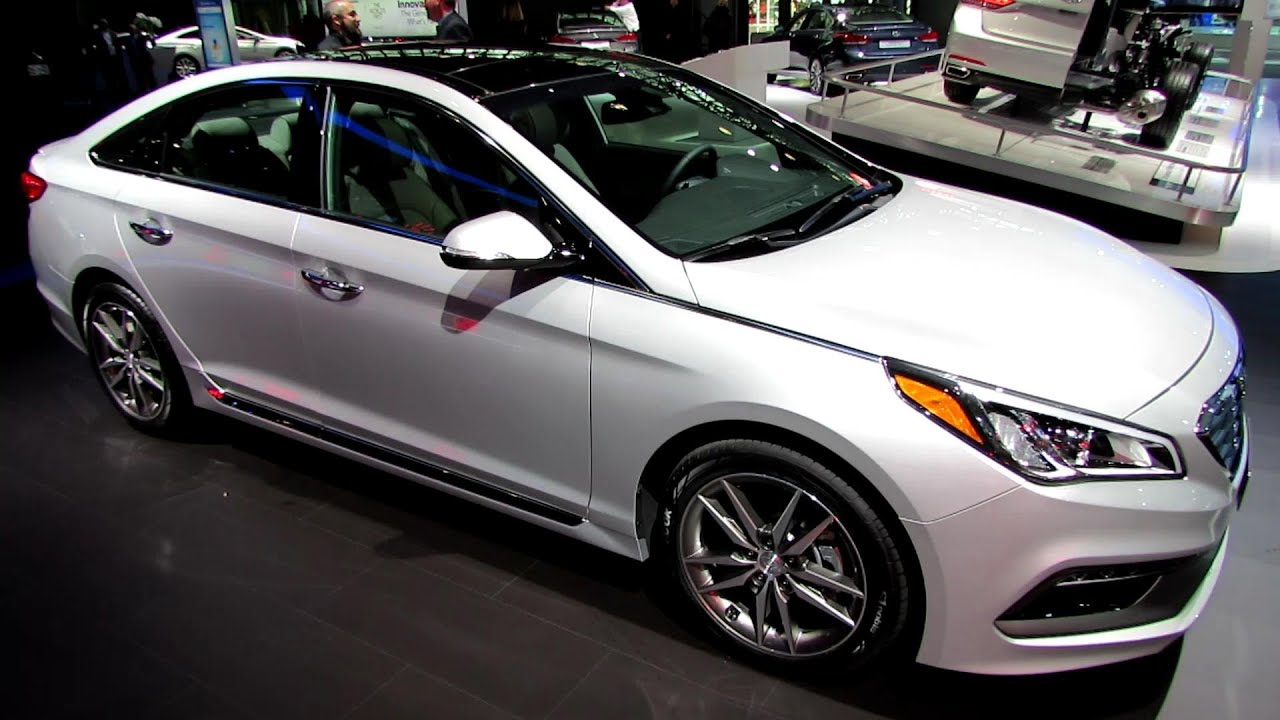 2015 Hyundai Sonata Sport 2.0T   Exterior And Interior Walkaround   Debut  At 2014 New York Auto Show   YouTube
