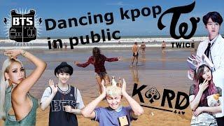 Dancing Kpop in Public Challenge on the beach