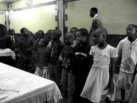 Children singing from the Africa Hope Center in Nairobi Kenya