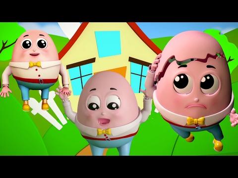 Шалтай-Болтай сидел на стене | 3d детские стишки для детей | Humpty Dumpty Sat On a Wall