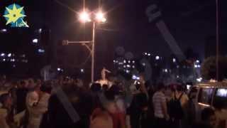 شاهد بالفيديو : تحطم واجهة مبنى الأمن الوطني بشبرا الخيمة