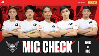 ONIC VS RRQ - MIC CHECK MPL S6 WEEK 5