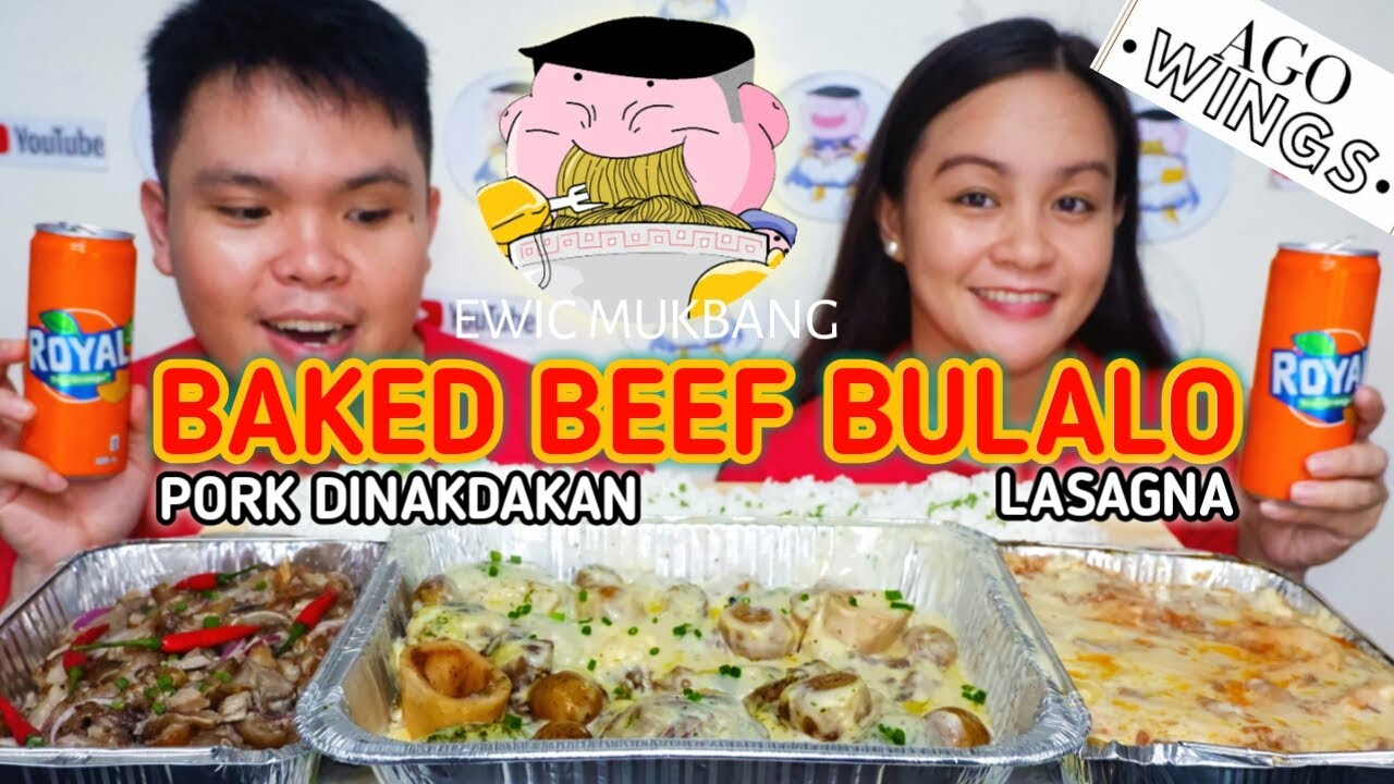 Baked Beef Bulalo / Pork Dinakdakan And Lasagna Mukbang/ Mukbang Philippines/ Filipino Food Mukbang