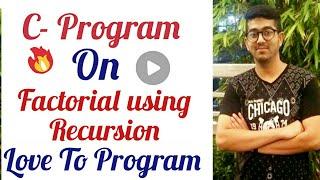 Factorial using recursion
