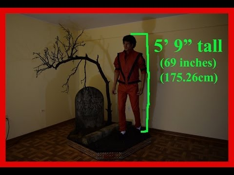Michael Jackson LIFE-SIZE Statue FINALLY IN 2016 - FOR SALE!!!  THRILLER 1:1 Figure