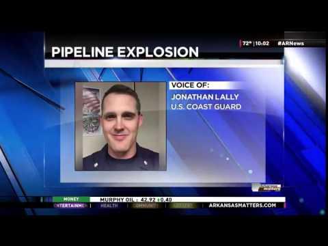 Gas Pipeline Explodes on Arkansas River in Little Rock