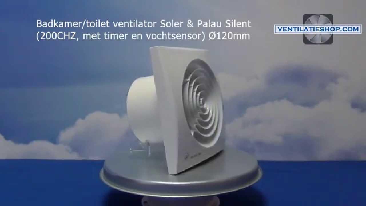 Badkamer/toilet ventilator, Soler & Palau Silent (200CHZ) Ø120mm ...