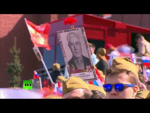 Immortal Regiment march in Moscow for Victory Day