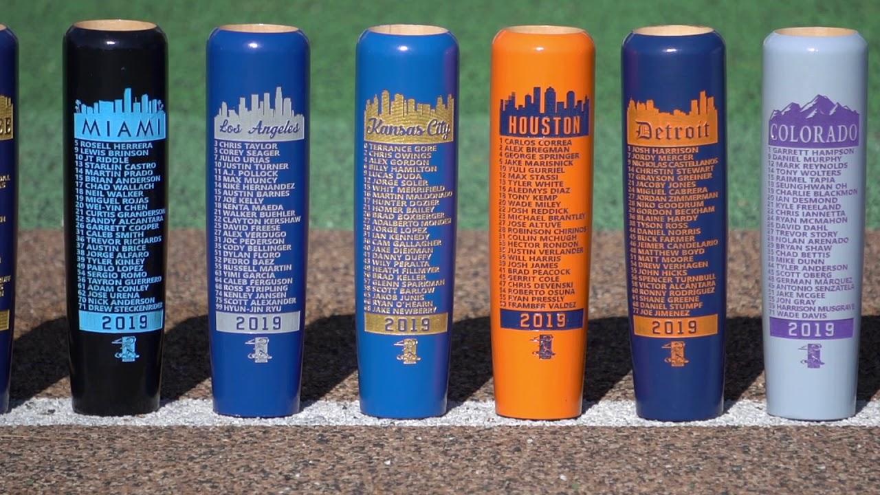 MLBPA 'Team Roster Edition' Bat Mugs