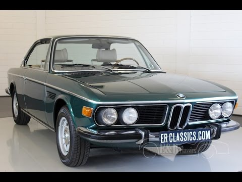 bmw 2800 cs 1971 very good condition video www. Black Bedroom Furniture Sets. Home Design Ideas