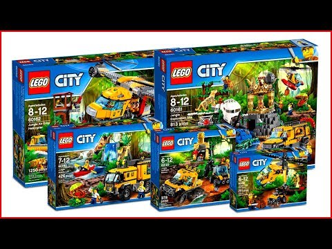 Compilation All Lego City Jungle 2017 Speed Build Youtube