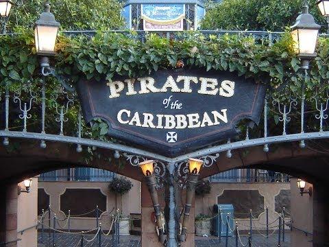 Pirates Of The Caribbean Ride Through Disneyland