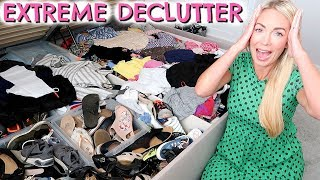 EXTREME DECLUTTER + CLOSET KONMARI  |  CLEAN WITH ME  |  WHAT'S UNDER MY BED?  |  EMILY NORRIS