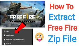 HINDI]How to paste file of garena free fire with zarchiver|zarchiver