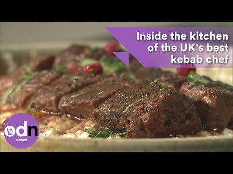 Inside the kitchen of the UK's best kebab chef