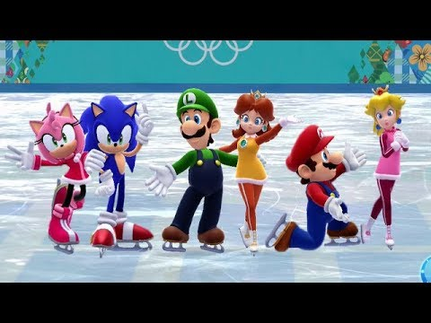 Mario and Sonic at the Sochi 2014 Olympic Winter Games - Figure Skating Pairs (All Songs)