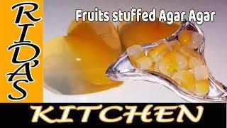 Agar Agar fruit stuffed
