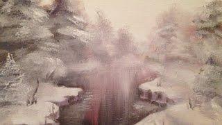 Зимний пейзаж маслом для начинающих. Winter.