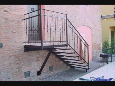 Meschiari fabbro scala esterna in ferro e youtube - Ringhiera scala esterna ...