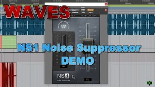 WAVES NS1 Noise Suppressor Demo - Cleaning Up Background Noise In a Voice Track