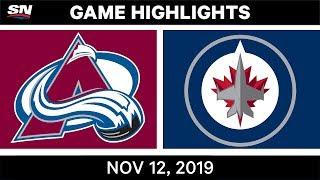 NHL Highlights   Avalanche vs. Jets – Nov. 12, 2019