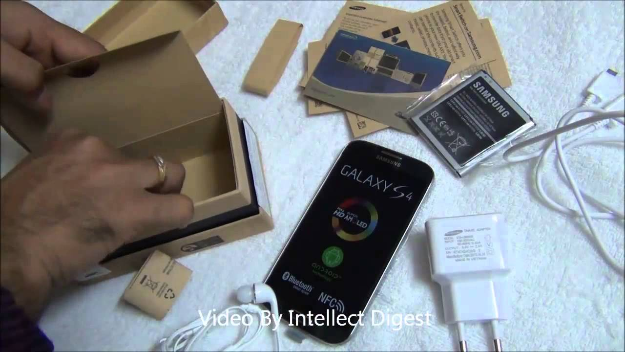samsung galaxy s4 unboxing box contents quick review and