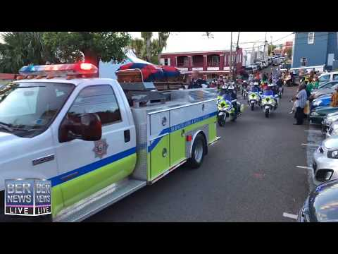 Funeral Procession For Fireman Ramsay 'Bo' Saggar, October 27 2019