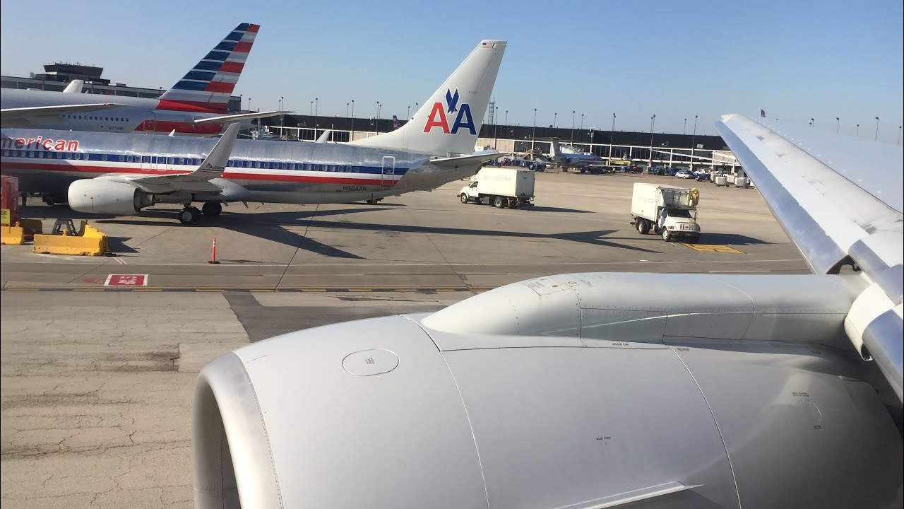 Roaring American Airlines 777 200 Takeoff From Chicago