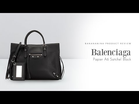 Banananina Product Review: Balenciaga Papier A6 Satchel Black